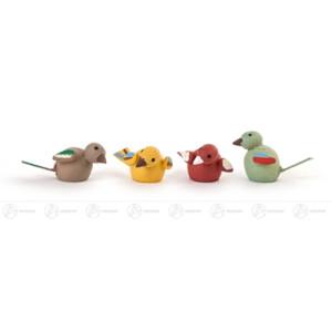 Miniatur Vögelchen (4) Höhe ca 1 cm NEU