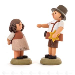 Miniatur Hänsel und Gretel Höhe ca 5,5 cm NEU
