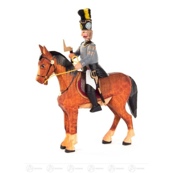 Miniatur Hüttengeschworener zu Pferd Breite x Höhe x Tiefe 10,5 cmx14 cmx3,5 cm NEU