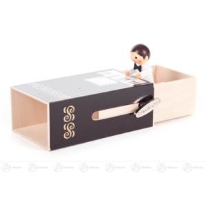 "Musikdose Musikdose ""Piano-Box"" mit Junge Höhe ca 6 cm NEU"
