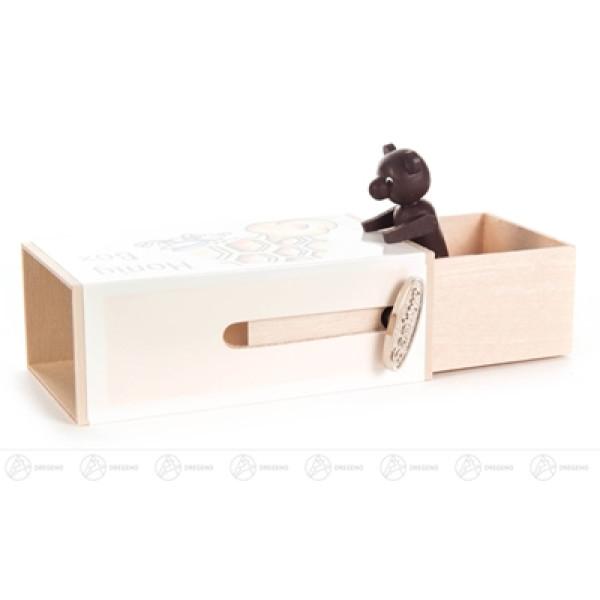 """Musikdose Musikdose """"Honig-Box"""" mit Bär Höhe ca 6 cm NEU"""
