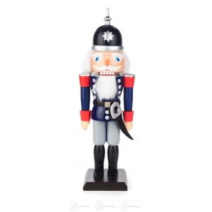 Nussknacker Gendarm blau-grau Breite x Höhe x Tiefe 10 cmx32 cmx11 cm NEU