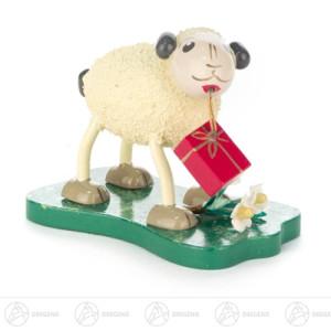 """Ostern & Frühjahr Schaf """"Gratulanti"""" mit Geschenken Höhe ca 5 cm NEU"""
