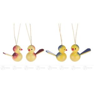 Ostern & Frühjahr Behang Vögel (10) Höhe x Tiefe 2,5 cmx3 cm NEU