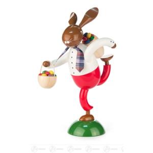 Ostern & Frühjahr Hase Eierdieb groß mit Kiepe und Korb Breite x Höhe x Tiefe 17 cmx35,5 cmx23 cm NEU
