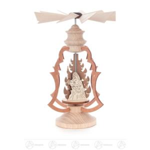 Pyramide Wärmespiel mit Christi Geburt Breite x Höhe x Tiefe 9 cmx13 cmx9 cm NEU
