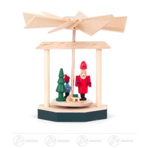 Pyramide Wärmespiel mit Weihnachtsmann Breite x Höhe x Tiefe 7 cmx7 cmx7 cm NEU