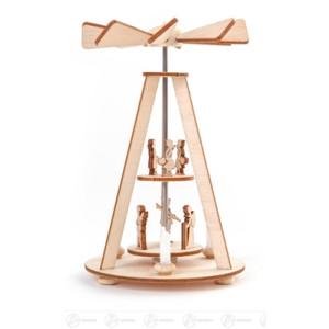 Pyramide Mini-Wärmespiel 2-stöckig Höhe ca 6,5 cm NEU
