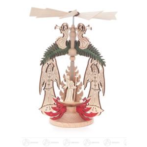 "Pyramide Wärmespiel ""Engel"" Engel/Christi Geburt Breite x Höhe x Tiefe 11 cmx14 cmx11 cm NEU"