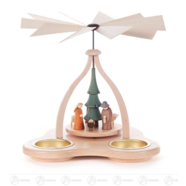 Pyramide mit Christi Geburt, für Teelichte Breite x Höhe x Tiefe 16 cmx15 cmx16 cm NEU