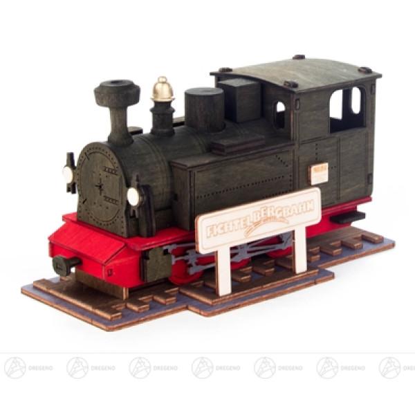"Räuchermann Räucher-Lok ""Fichtelbergbahn"" Breite x Höhe x Tiefe 17 cmx10 cmx9 cm NEU"