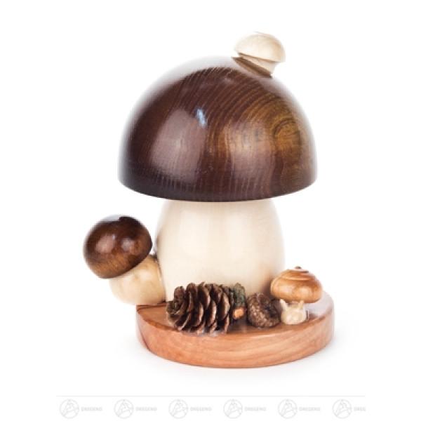 Räuchermann Räucherpilz Braunkappe runde Form, klein Breite x Höhe x Tiefe 10 cmx11 cmx10 cm NEU