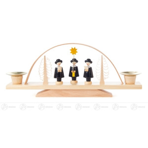 Schwibbogen mit Kurrende, für Kerzen d=14mm Breite x Höhe x Tiefe 23,5 cmx9,5 cmx4 cm NEU
