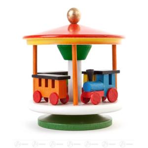Spielzeug Karussell mit Eisenbahn farbig Höhe ca 8 cm NEU