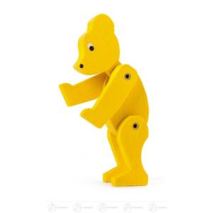 Spielzeug Bär gelb groß, beweglich Höhe ca 11,5 cm NEU