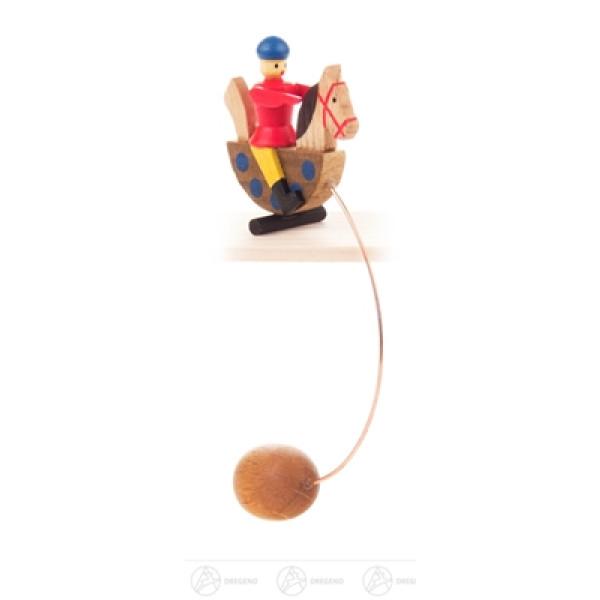 Spielzeug Schaukelfigur Seiffener Reiterlein Höhe ca 8,5 cm NEU
