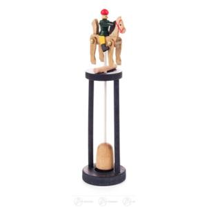 Spielzeug Wackelreiter mit Ständer Höhe ca 12,5 cm NEU
