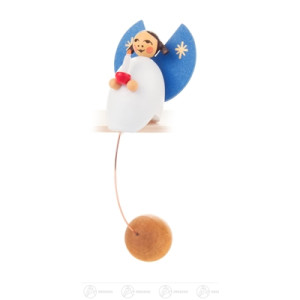 Spielzeug Schaukelfigur Engel mit Kerze Höhe ca 10 cm NEU