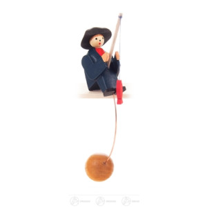 Spielzeug Schaukelfigur Angler Höhe ca 9 cm NEU