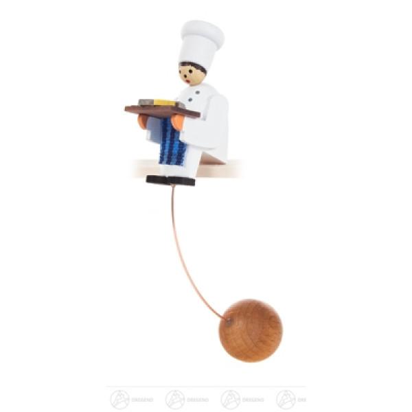 Spielzeug Schaukelfigur Koch Breite x Höhe x Tiefe 1,9 cmx9,4 cmx2,8 cm NEU