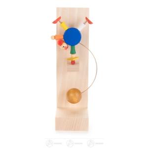 Spielzeug Schaukel-Clown Akrobat auf Rolle Höhe ca 13 cm NEU