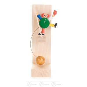 Spielzeug Schaukel-Clown Akrobat auf Leiter Höhe ca 16 cm NEU