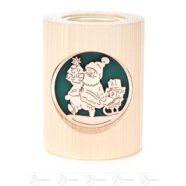 Teelichthalter Weihnachtsmann/Glocke Breite x Höhe x Tiefe 7,5 cmx10 cmx7,5 cm NEU