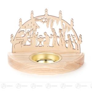 Teelichthalter Christi Geburt Breite x Höhe x Tiefe 12 cmx8,5 cmx6,5 cm NEU