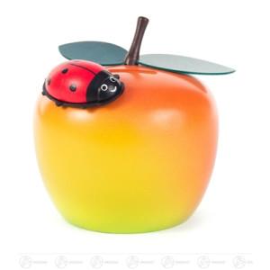 Spardose Apfel mit Käfer Breite x Höhe x Tiefe 9,5 cmx9 cmx9 cm NEU
