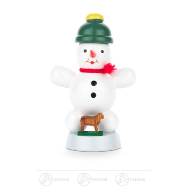 Weihnachtliche Miniatur Schneemann mit Kuh Höhe ca 6 cm NEU