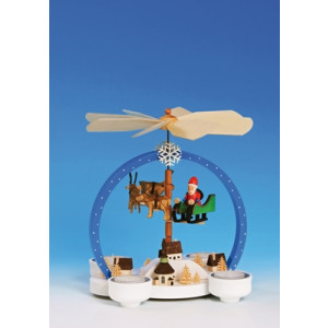 Tischpyramide Pyramide Weihnachtszauber mit Weihnachtsmann bunt Höhe 25 cm NEU