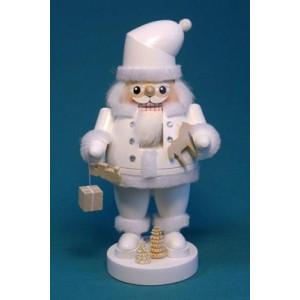 Nussknacker Santa weiß mit Geschenken Höhe ca 22 cm NEU