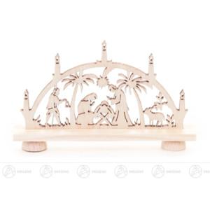 Schwibbogen Mini-Schwibbogen mit Christi Geburt Breite x Höhe x Tiefe 7,5 cmx4,5 cmx1 cm NEU