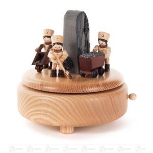 Musikdose mit arbeitenden Bergleuten BxHxT 140 x 125 x 140mm NEU