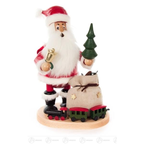 Räuchermann Weihnachtsmann mit Eisenbahn Höhe = 260mm NEU