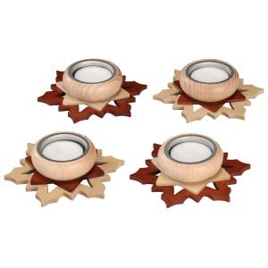 Adventsstern Teelichthalter braun/ natur HxLxB 3x11x11cm NEU
