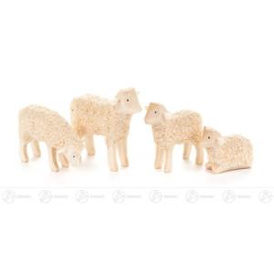 Holztier Schafe (4) Höhe = 4cm NEU
