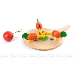 Holztier Pickhühner BxHxT = 13x30,5x13cm NEU