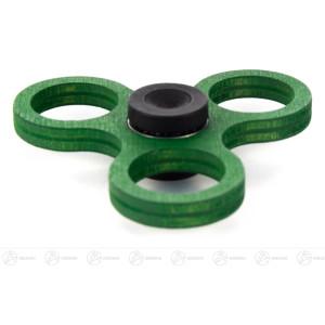 Fidget Spinner Kreisel Twist Anti Streß grün (für 50-Cent-Münzen) BxHxT = 8x2x8cm NEU