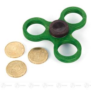 Fidget Spinner Kreisel Twist Anti Streß klein, grün (für 20-Cent-Münzen) BxHxT = 7,5x2x7,5cm NEU