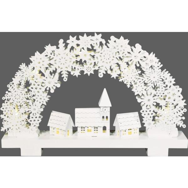 Lichterbogen ''Winterdorf'' mit 8 LED, weiß LxBxH 32 x 5 x 20 cm NEU