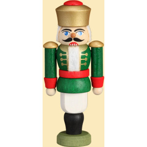 Weihnachtsdekoration Behang Mini Nußknacker König grün HxBxT = 9x4x3cm NEU