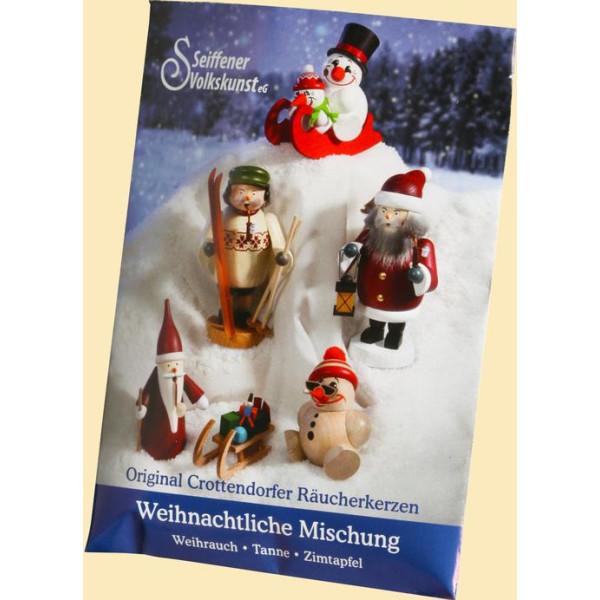 Weihnachtsdekoration Tüte Räucherkerzen Weihnachtliche Mischung HxBxT = 9x6,5x1cm NEU