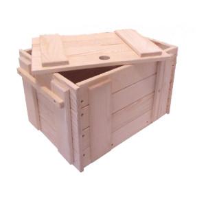Holzspielzeug Holzkiste L/B/H 40x30x26cm NEU