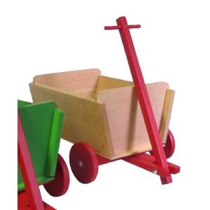 Handwagen Kastenwagen handlicher kleiner Wagen ausmassivem Buchenholz mitHolzrädern NEU