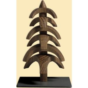 Weihnachtsdekoration Drehbaum Eiche geräuchert HxBxT = 11,5x7x7cm NEU