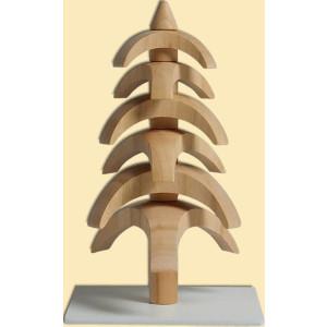 Weihnachtsdekoration Drehbaum Kirschbaum natur HxBxT = 11,5x7x7cm NEU