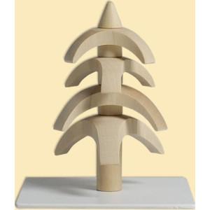 Weihnachtsdekoration Drehbaum Weißbuche natur HxBxT = 8x7x7cm NEU