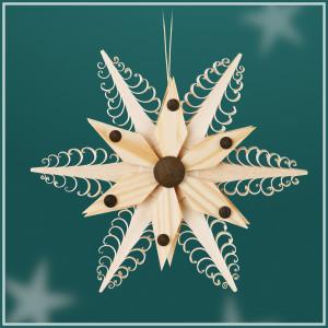 Baumbehang Spanstern mit Kieferstern (Beidseitig) BxHxT=11,5x11,5x2cm NEU