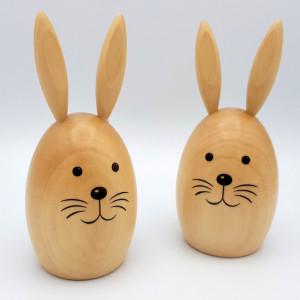 Dekorationsfiguren Hasenpaar, natur – groß BxHxT 6x14x6cm NEU